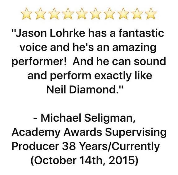 Academy Awards Producer Michael Seligman Endorsement of Jason Lohrke