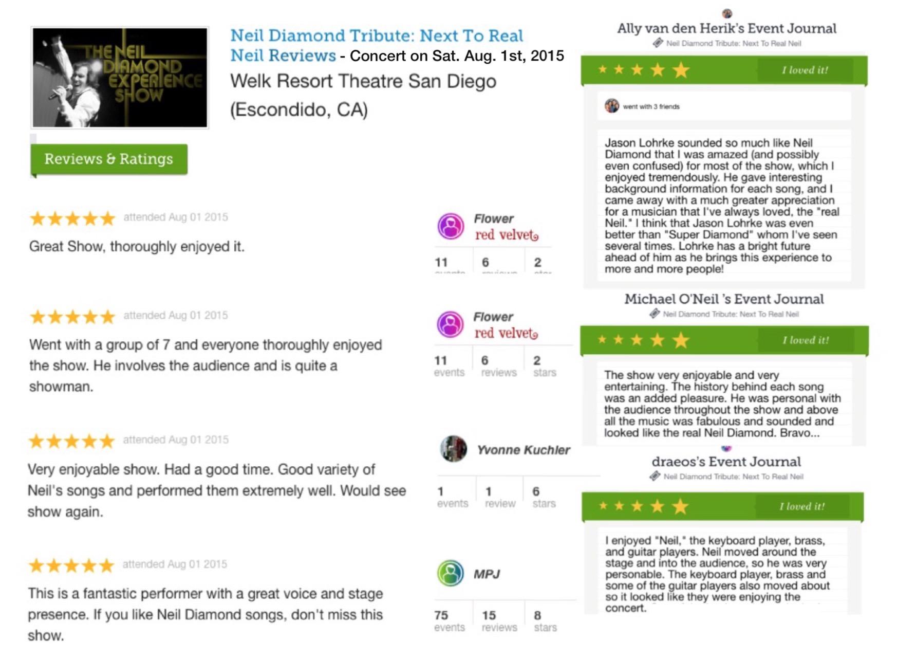 Neil Diamond Early Years Jason Lohrke Welk Theater Reviews Aug. 1 2015