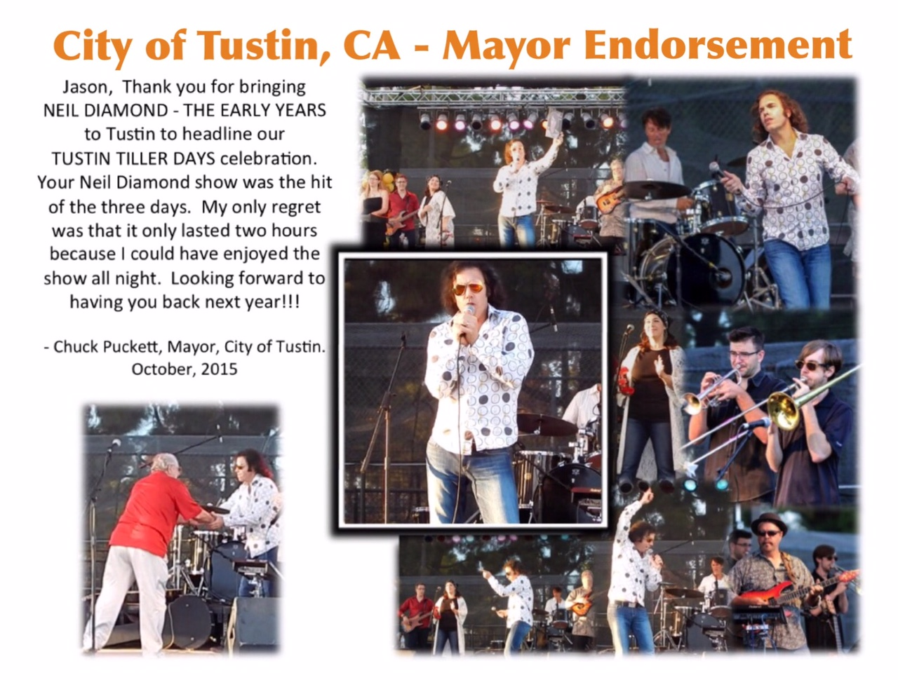 Neil Diamond - The Early Years - Mayor of Tustin Endorsement